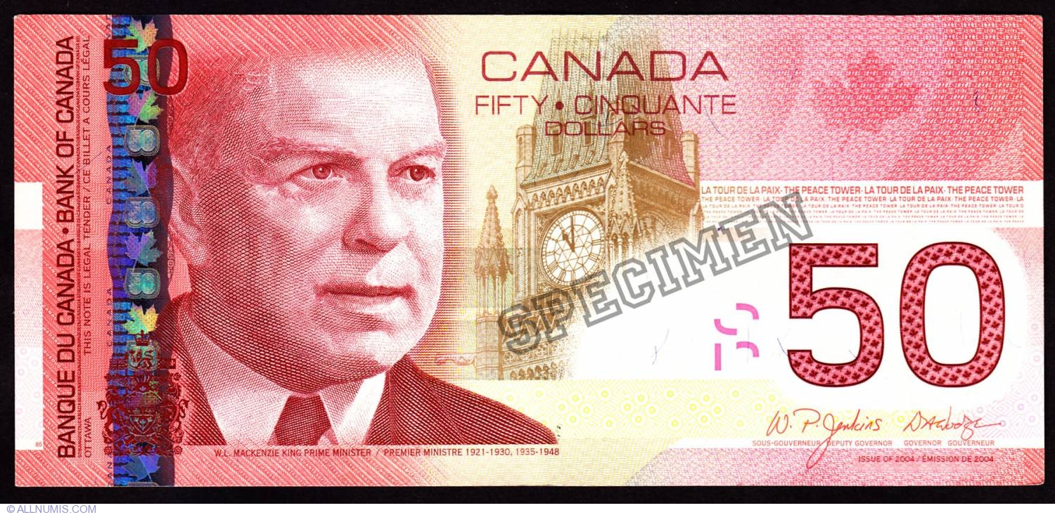 Canadian dollar50 Canadian Dollars 2004