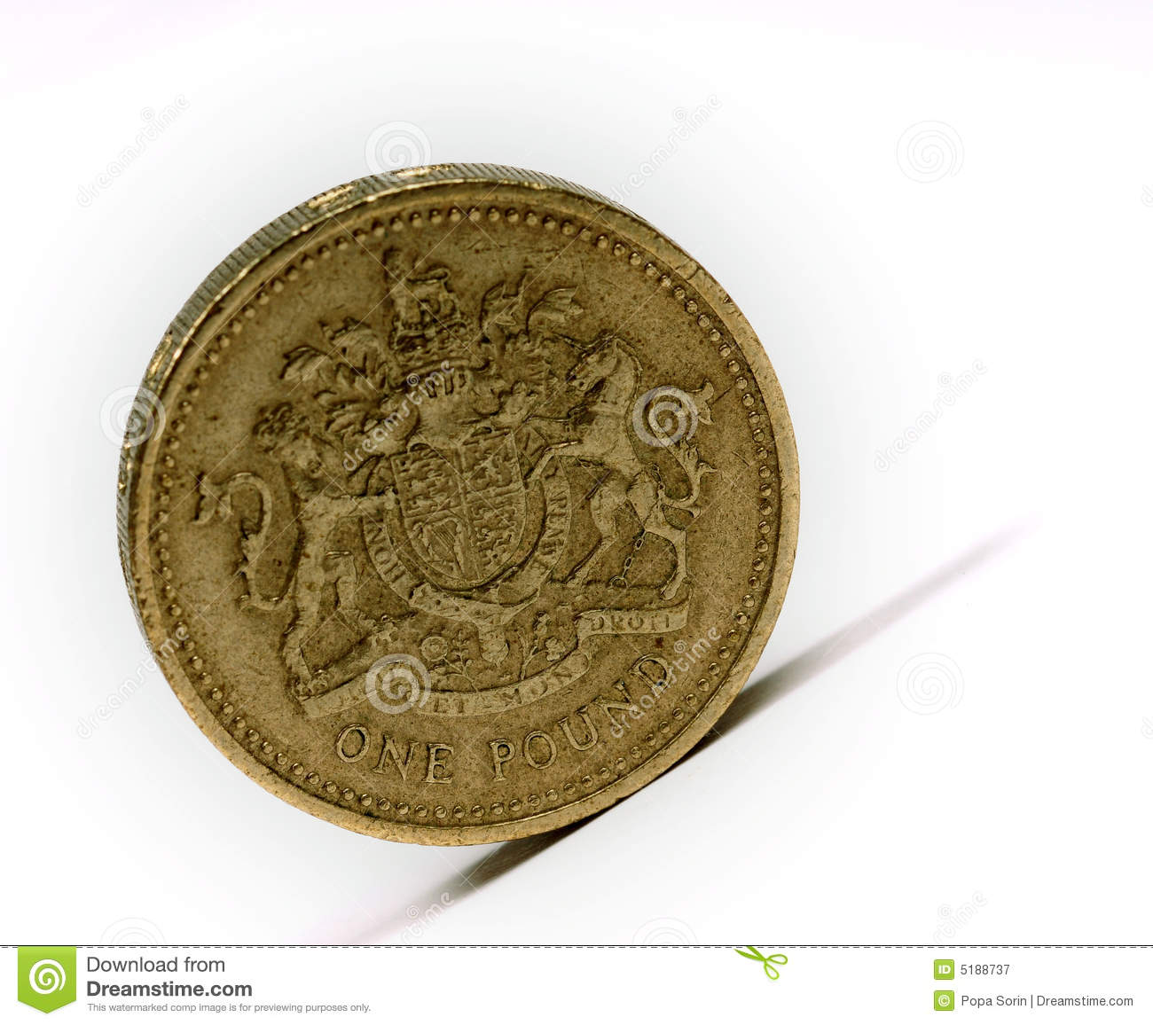 Pound sterling... Free Stock Photography: One pound sterling
